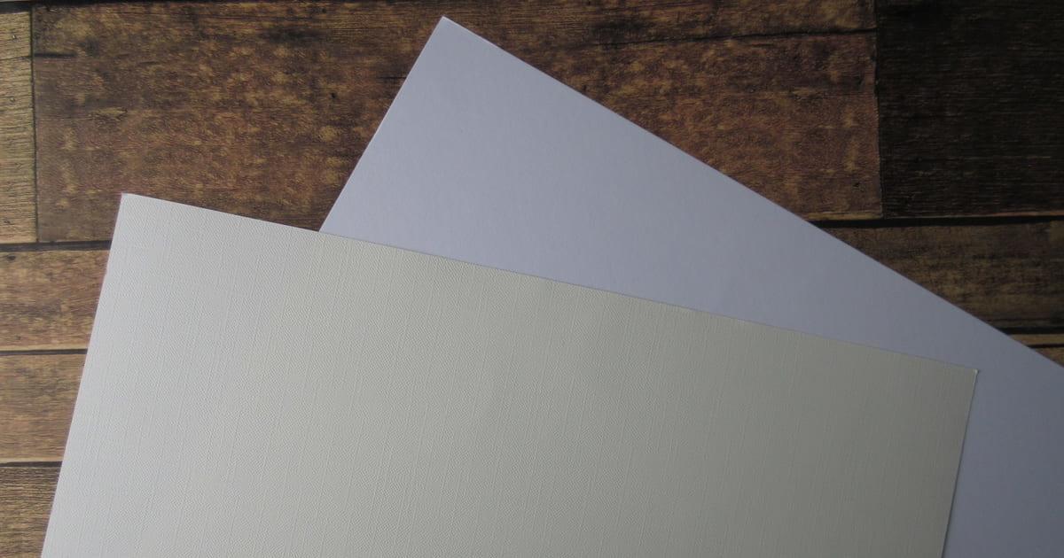 2種類の画用紙