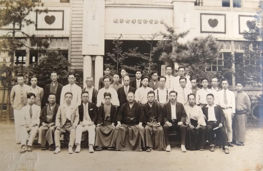 脇田畦牛と杉山祥司先生(岐阜実科高等女学校)
