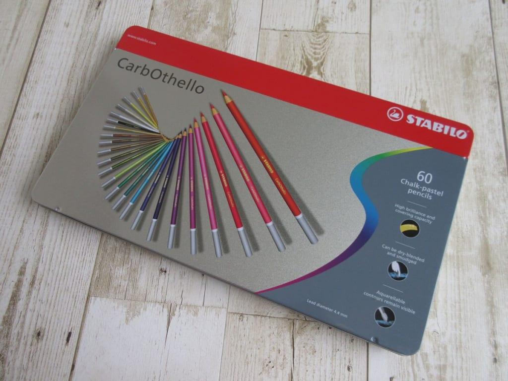 スタビロ 水彩色鉛筆 カーブオテロ 60色セット ケース上部